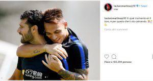 Instagram, botta e risposta tra Candreva e Lautaro Martinez