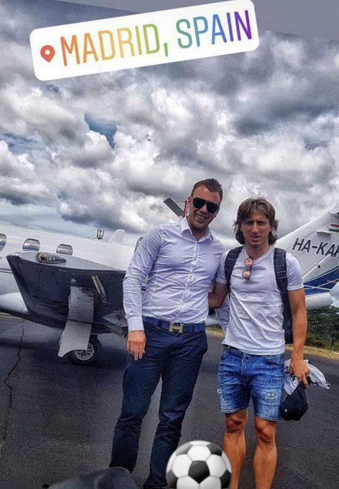 Instagram, Modric è arrivato a Madrid