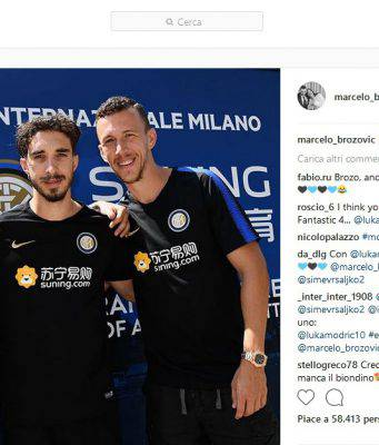 Instagram, Brozovic con Perisic e Vrsaljko: il trio matto dell'Inter