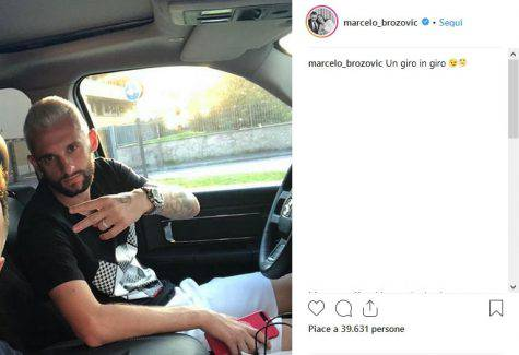 Inter, Brozovic sfoggia il suo nuovo look su Instagram