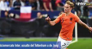 Calciomercato Inter, assalto del Tottenham a de Jong