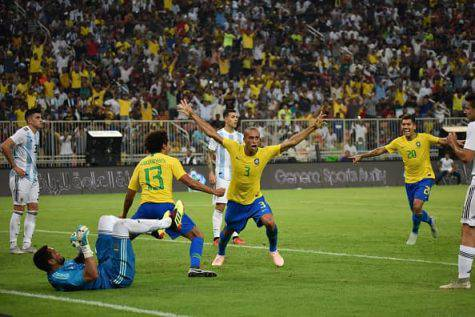 Brasile-Argentina, Miranda decide il match