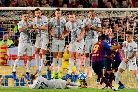Barcellona-Inter 2-0, Sacchi bastona i nerazzurri
