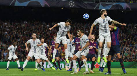 Inter Barcellona formazioni ufficiali