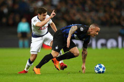 Tottenham Inter infortunio Nainggolan