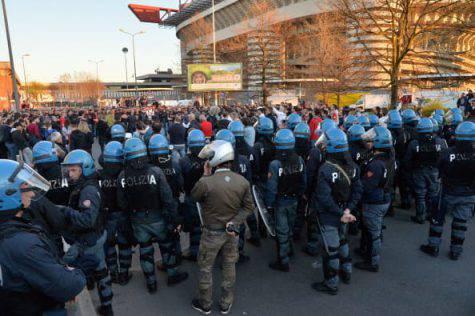 Inter Napoli scontri tifosi