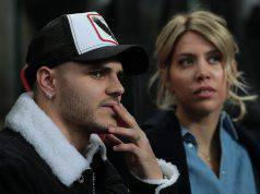 Inter Rapid Icardi in tribuna