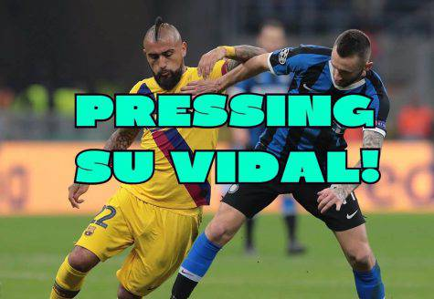 calciomercato inter vidal pressing barcellona