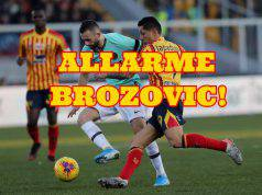 lecce inter infortunio brozovic