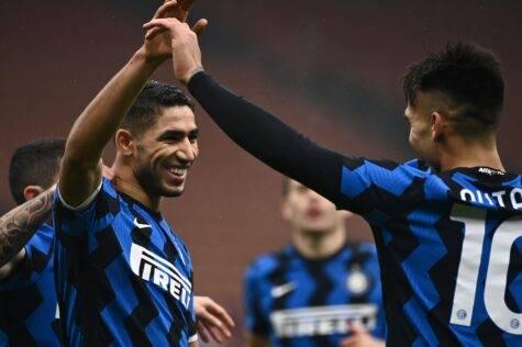 Inter-Spezia 2-1, Hakimi sblocca su assist di Lautaro
