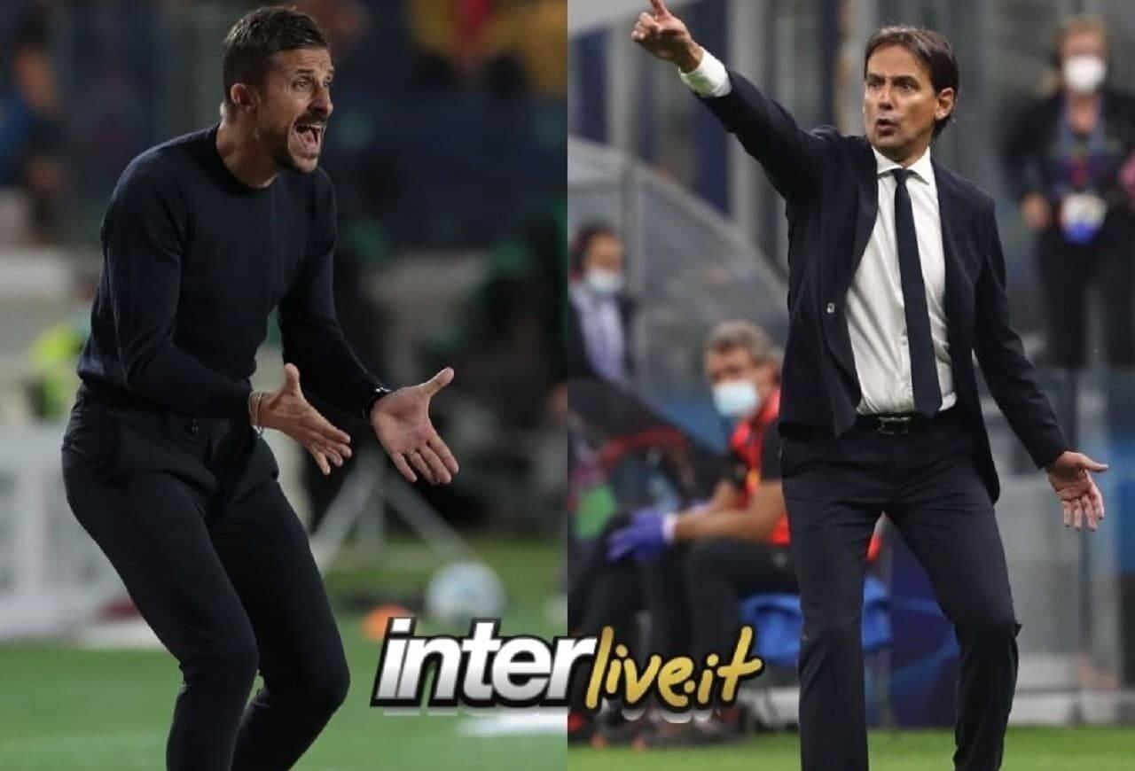 Le formazioni ufficiali di Sassuolo-Inter